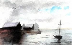 Port d' Andratx watercolor painting by artist Darko Topalski
