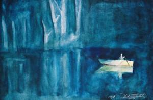Biljur watercolor painting by artist Darko Topalski