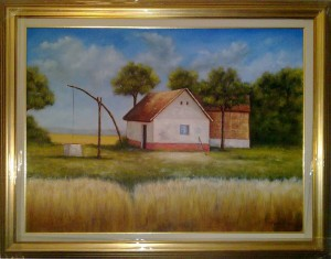 Commissioned Farm - Oil Painting on Canvas by artist Darko Topalski