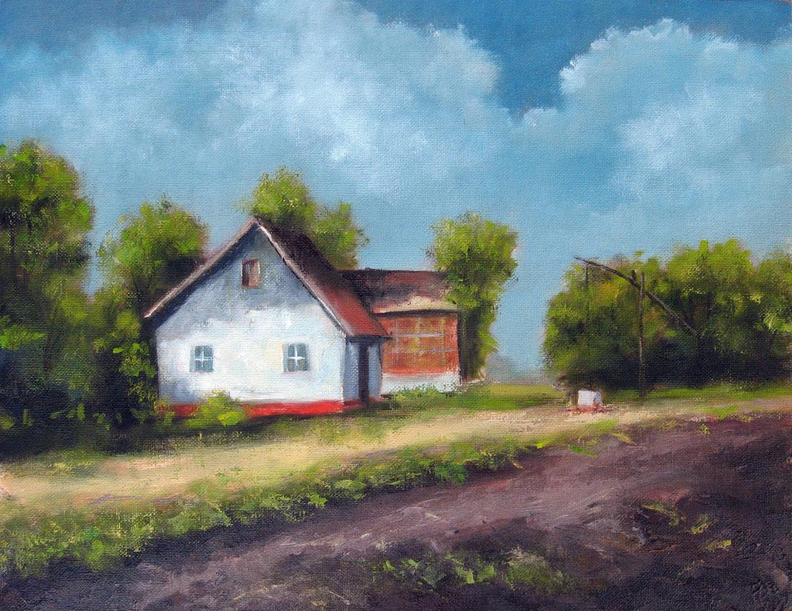 Farm House – Oil Painting