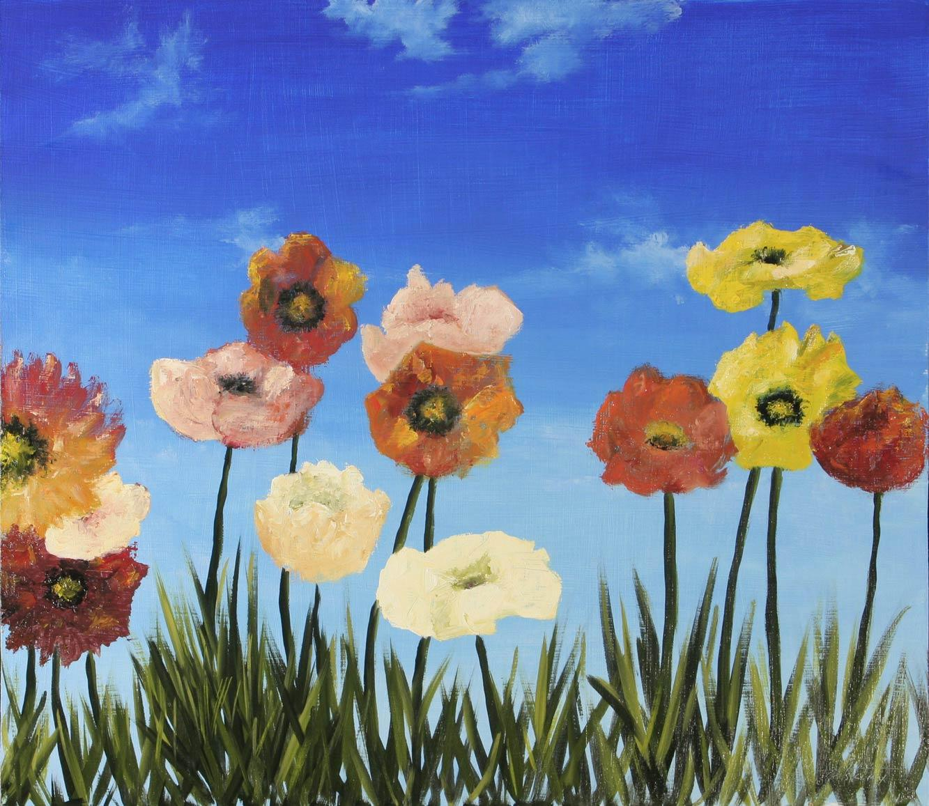 Flowers oil painting fine arts gallery original fine art oil flowers oil painting on hdf by artist darko topalski izmirmasajfo