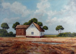 Marsh Farm - Oil Painting on Canvas by artist Darko Topalski