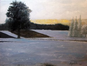 Winter Solitude - Oil Painting on Canvas by artist Darko Topalski