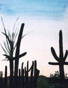 Arizona Dream watercolor painting by artist Darko Topalski