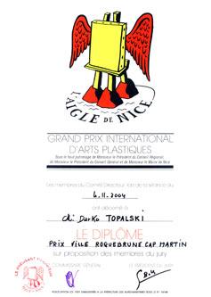 Prize of Roquebrune Cap Martin for Topalski