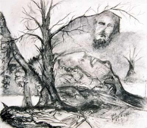 Collective Unconscious - charcoal drawing by artist Darko Topalski