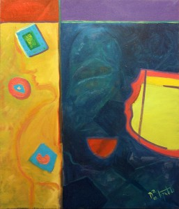 t-position - Oil Painting on Canvas by artist Darko Topalski