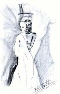 Face Off - graphite pencil drawing by artist Darko Topalski
