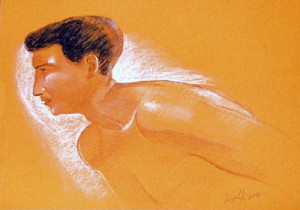 Pointer - pastel drawing by artist Darko Topalski