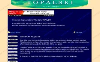 Fine Artist Website v1.3 by Darko Topalski