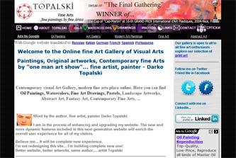 Fine Artist Website v2.3 by Darko Topalski