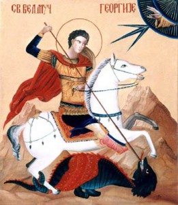 St. Georgie - Orthodox Icon by artist Darko Topalski