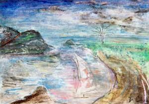 Wheels Within Dreams - pastel drawing by artist Darko Topalski