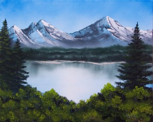 Mountain Escape - Oil Painting on Canvas by artist Darko Topalski