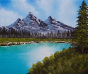 Mountain Lake - Oil Painting on Canvas by artist Darko Topalski
