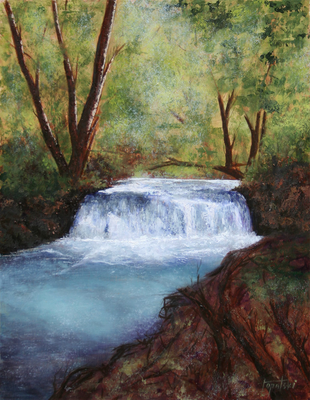 Forest Waterfall Drawing Name Forest Waterfall