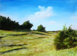 Near Onagrinum - Original Oil Painting on MDF by artist Darko Topalski