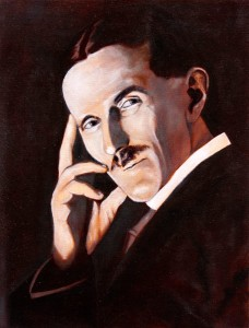 Nikola Tesla - Portrait Painting by Topalski - painting in progress phase 4 - final underpainting