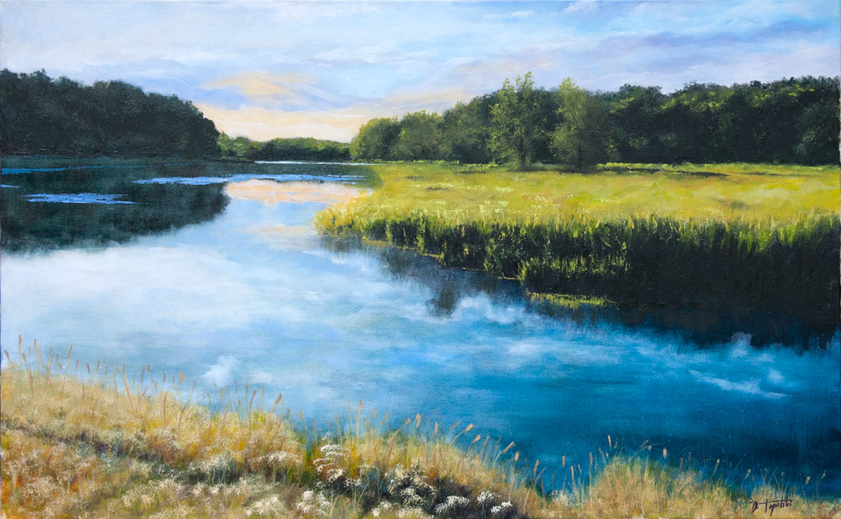 Dawn of the River – Oil Painting  Fine Arts Gallery  Original fine