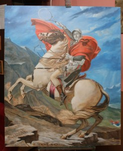 Painting Oil fine art-Napoleon Novak on Alps-by-topalski