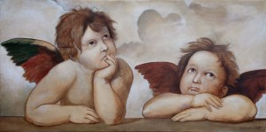 Raphael's Angels - Fine art Oil Painting on Canvas by artist Darko Topalski