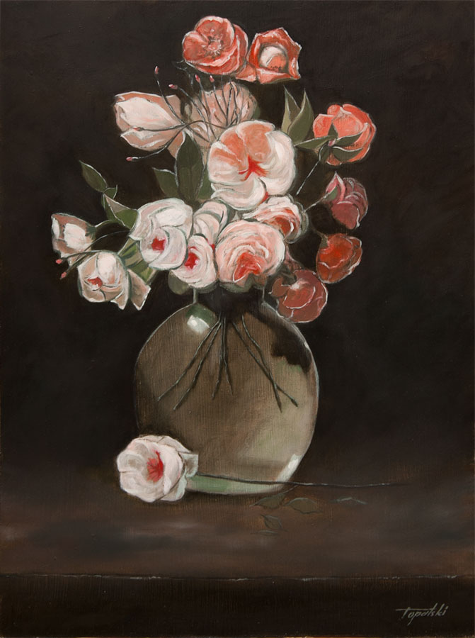Darko Topalski & Flowers in a Vase \u2013 Oil Painting | Fine Arts Gallery - Original fine ...