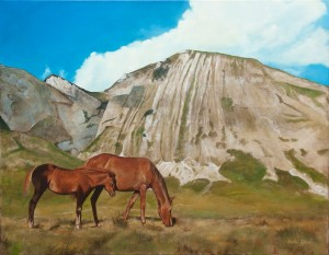 Wild Horses – Oil Painting